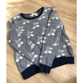 Bonpoint - 美品中古 ボンポワン 定番 コットンチェリー柄セーター 8a