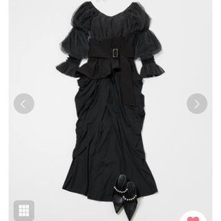 ラベルエチュード(la belle Etude)のラベルエチュード ベルト付きドレープスカート(ロングスカート)