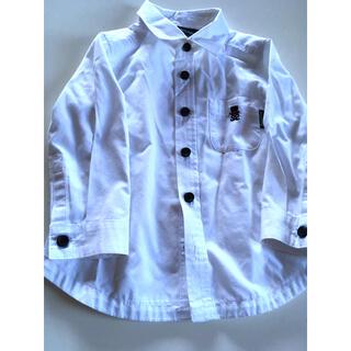 クレードスコープ(kladskap)のクレードスコープ 白ワイシャツ 胸ワンポイント 80㎝(シャツ/カットソー)