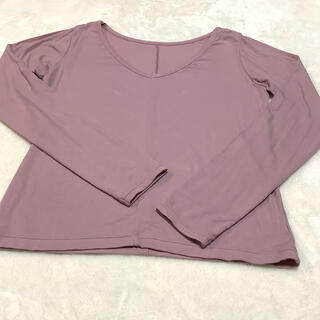 チャコット(CHACOTT)のChacott ロングスリーブトップ ピンクM(Tシャツ(長袖/七分))