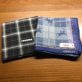 RENOMA - 紳士 ハンカチ renoma CHIVALRY 2枚組新品