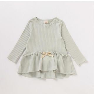 petit main - プティマイン リボンフレアテレコ Tシャツ 120