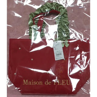 Maison de FLEUR - Maison de FLEUR イチゴフリルハンドルトートバッグ