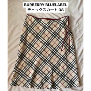 BURBERRY BLUE LABEL - BURBERRY バーバリー ブルーレーベル チェックスカート 38 レディース