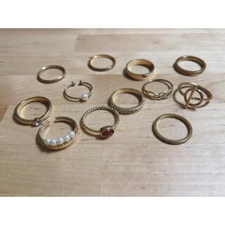 アネモネ(Ane Mone)の指輪12個セット ゴールド系(リング(指輪))