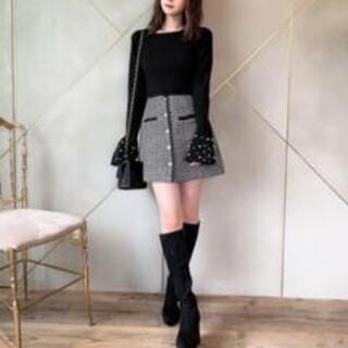 michellMacaron - 美品♡ミシェルマカロン千鳥パールスカート♡