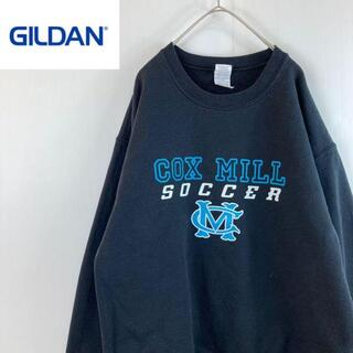 ギルタン(GILDAN)のgildanジルダンギルダンカレッジプリントスウェットスエット黒ユニセックスM(スウェット)