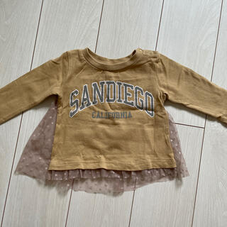 petit main - プティマイン チュール付き長袖Tシャツ サイズ90