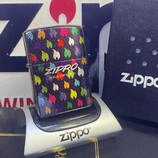ジッポー(ZIPPO)の zippoライター 5面ラメフレイム 加工 ジッポー レインボー廃盤未使用品(タバコグッズ)