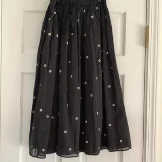 Drawer - ドゥロワー  jupe by Jackie フラワースカート ブラック新品未使用