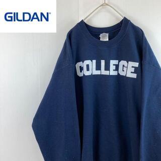 ギルタン(GILDAN)のカレッジプリントスウェットスエットトレーナーユニセックスLVINTAGE古着女子(スウェット)