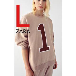 ZARA - ZARA ウォッシュ加工 スウェット スウェットシャツ 新品 L