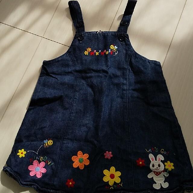 mikihouse(ミキハウス)のmikihouse ジャンパースカート キッズ/ベビー/マタニティのキッズ服女の子用(90cm~)(ワンピース)の商品写真