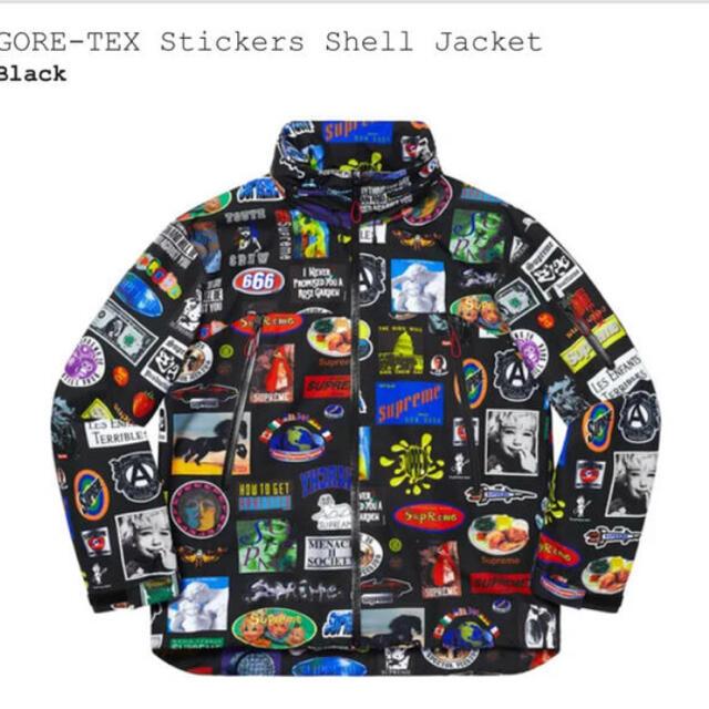 Supreme(シュプリーム)のsupreme GORE-TEX Stickers Shell Jacket M メンズのジャケット/アウター(ナイロンジャケット)の商品写真