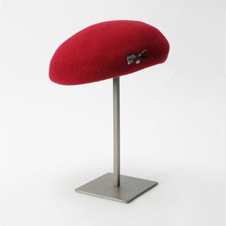 バーバリーブルーレーベル(BURBERRY BLUE LABEL)のバーバリー ブルーレーベル ベレー帽 赤(ハンチング/ベレー帽)