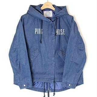 PINK HOUSE - 2020春完売ピンクハウス★ロゴ刺繍フードブルゾン★インディゴ
