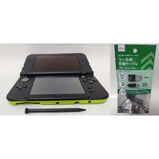 Newニンテンドー3DS LL ライム×ブラック USBケーブルセット(携帯用ゲーム機本体)
