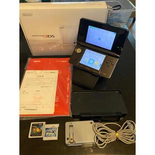 ニンテンドー3DS - 任天堂 ニンテンドー 3DS コスモブラック 箱付き 説明書付き