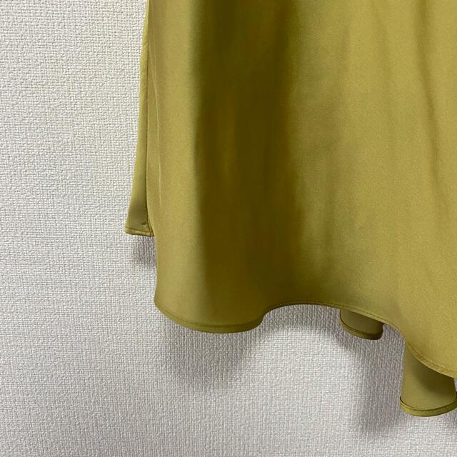 Mila Owen(ミラオーウェン)の美品milaowenテールサテンスカート レディースのスカート(ロングスカート)の商品写真
