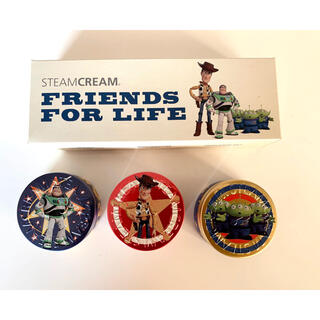 スチームクリーム(STEAM CREAM)のスチームクリーム トイストーリー 3缶セット(ボディクリーム)
