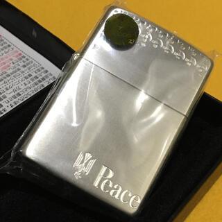ジッポー(ZIPPO)のZIPPO 新品未使用 PEACE ピース 当選非売品 和柄刻印(タバコグッズ)
