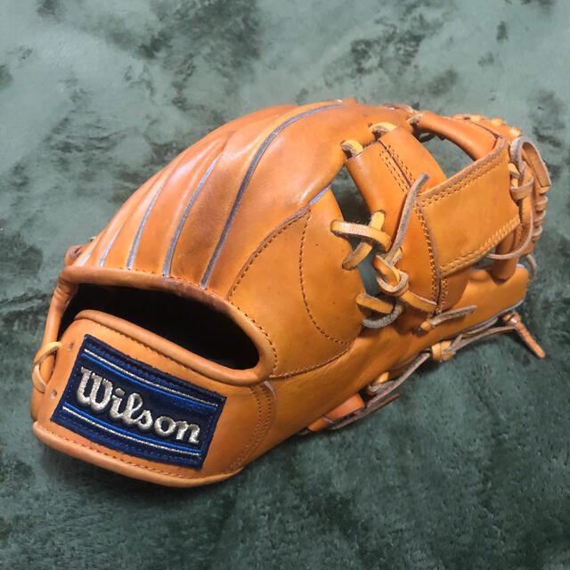 wilson(ウィルソン)の日本製wilsonウィルソン 軟式 内野手用グローブ スポーツ/アウトドアの野球(グローブ)の商品写真
