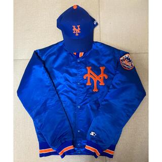 NEW ERA - ニューヨークメッツ スタジャン、キャップセット MLB