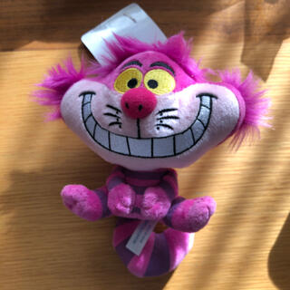 ディズニー(Disney)のTDR ディズニー チェシャ猫 ぬいぐるみバッジ キーチェーン(キャラクターグッズ)