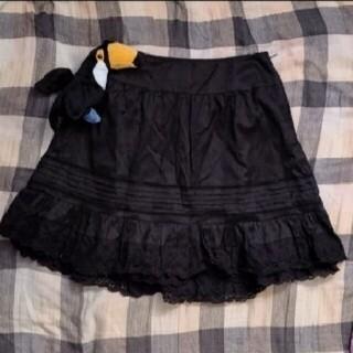 バーバリーブルーレーベル(BURBERRY BLUE LABEL)のミニスカート 黒(ミニスカート)