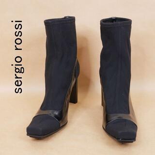 セルジオロッシ(Sergio Rossi)のsergio rossi セルジオロッシ 38 黒 イタリア製 ショートブーツ(ブーツ)