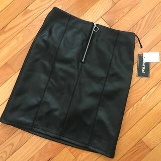 シマムラ(しまむら)の未使用 フェイクレザー タイトスカート Lサイズ(ミニスカート)