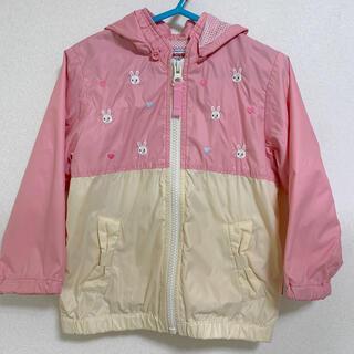 mikihouse - 美品 90 ミキハウス ウインドブレーカー プチうさこ うさこ 羽織り パーカー