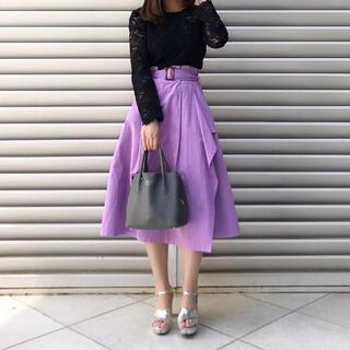 アンレリッシュ(UNRELISH)の美品 UNRELISH アンレリッシュ ラッフルロングスカート 春服(ひざ丈スカート)