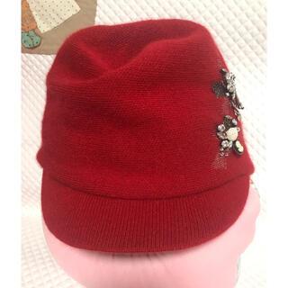 アンテプリマ(ANTEPRIMA)のアンテプリマ アンゴラ100%帽子(ニット帽/ビーニー)