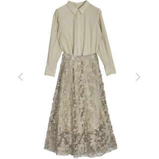Ameri VINTAGE - Ameri♡LACE LAYERED SHIRT DRESS