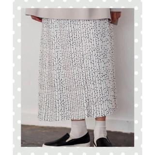 ピュアルセシン(pual ce cin)のドット柄 プリーツスカート(pual  ce cin)(ロングスカート)