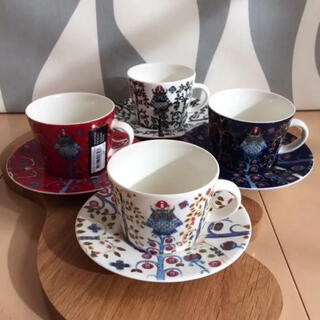 イッタラ(iittala)の新品 4客 iittala イッタラ タイカ コーヒー カップ&ソーサー(食器)