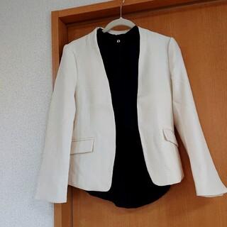 オフホワイトノーカラージャケット 新品