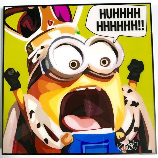 minion ③ ミニオン / 大人気ポップアートパネル / インテリア雑貨 エンタメ/ホビーの美術品/アンティーク(絵画/タペストリー)の商品写真