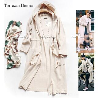 TORRAZZO DONNA - 定価18,900円【新品】トラッゾドンナ★柔らかい着心地フーディーニットアウター