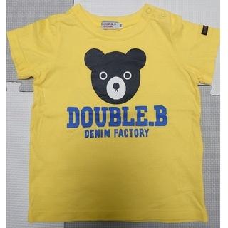 DOUBLE.B - ダブルビー ミキハウスくまドーン 半袖 Tシャツ 黄色 90