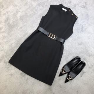 Dior - Dior  30 MONTAIGNE ロゴボタン ショートドレス ワンピース