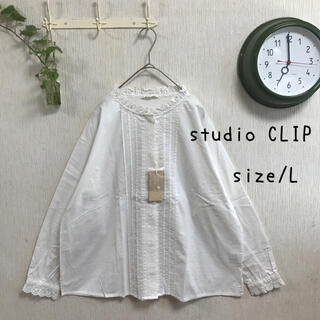 STUDIO CLIP - studioCLIP ゆったりブラウス レースブラウス スカラップブラウス
