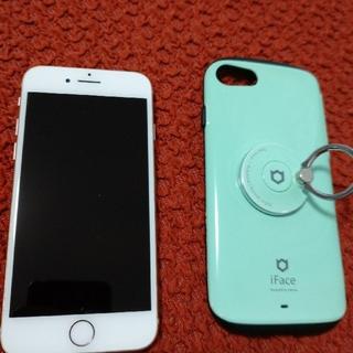 iPhone - iPhone8 64GB(ゴールド) 中古 SIMロック解除 ケース付