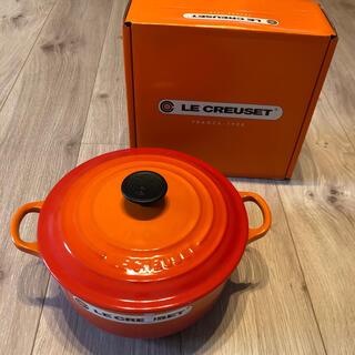ルクルーゼ(LE CREUSET)の新品未使用 ル・クルーゼ 鍋 20センチ オレンジ(鍋/フライパン)