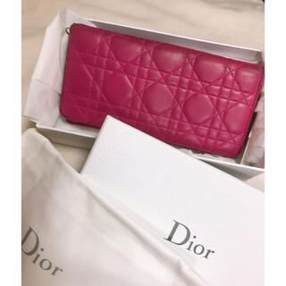 Christian Dior - dior クリスチャンディオール レディディオール 長財布 ピンク