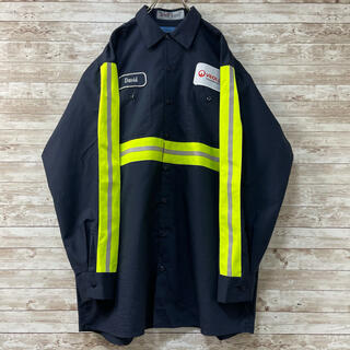 【シンタス】企業刺繍ワッペン リフレクターシャツ メキシコ製 ネオンカラー XL(シャツ)