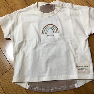 しまむら - 虹刺繍Tシャツ 95 新品・未使用・タグ付き