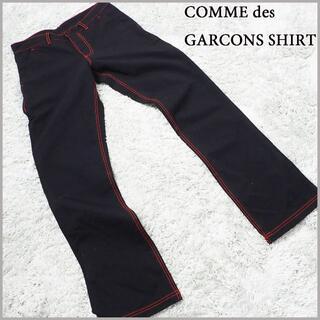 コムデギャルソン(COMME des GARCONS)の【comme des garcons shirt】レッドステッチ コットンパンツ(チノパン)