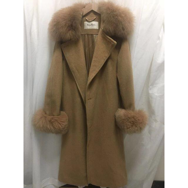 Max Mara(マックスマーラ)のMax Mara リアルファー コート 美品 レディースのジャケット/アウター(ロングコート)の商品写真